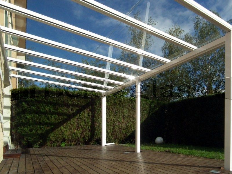 Techo de cristal para terraza luminosidad y transparencia - Cristales para techos ...
