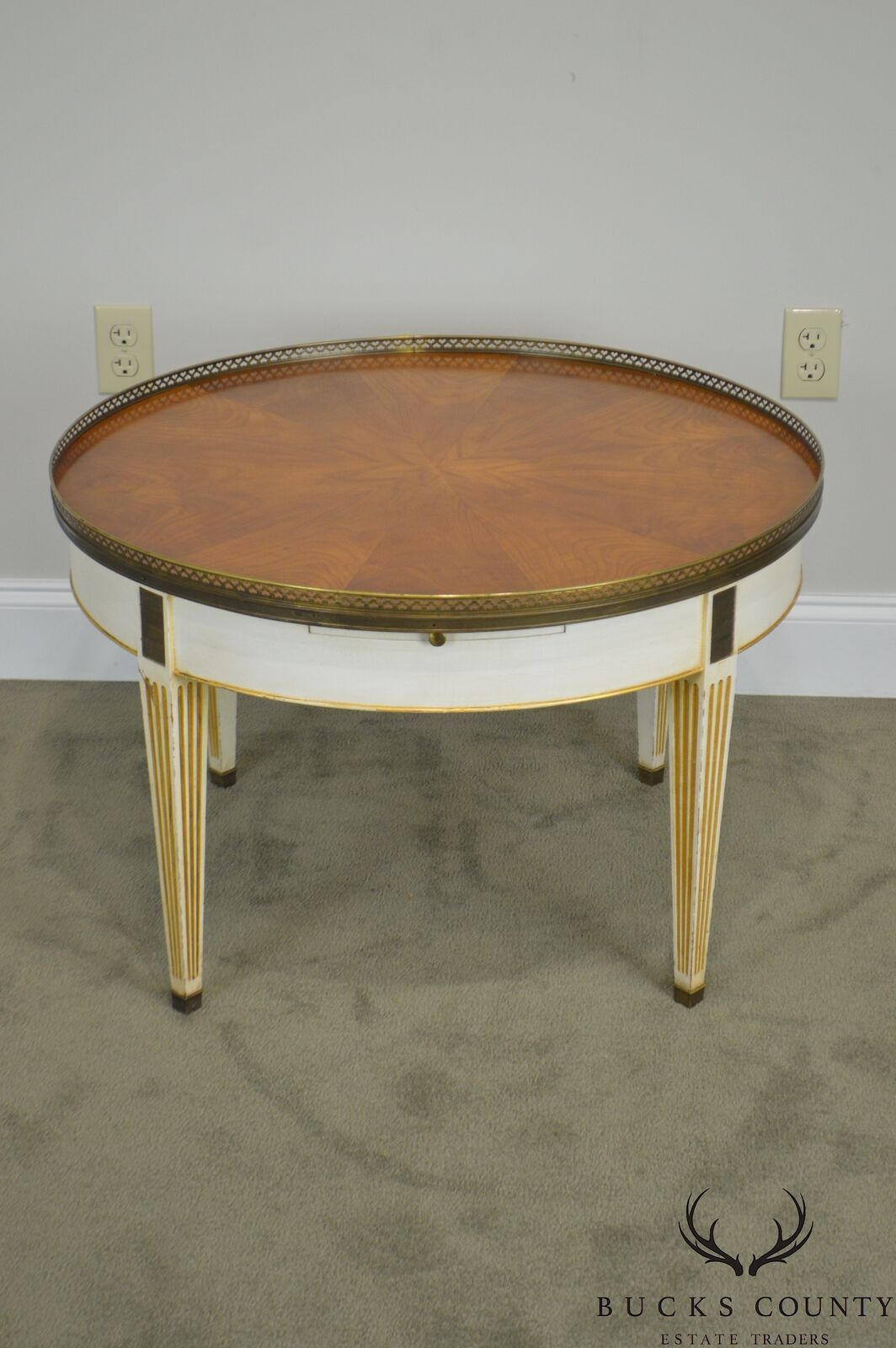 Baker Vintage Regency Directoire Style Round Painted Bouillotte Coffee Table Coffee Table Table Vintage Painting [ 1600 x 1064 Pixel ]