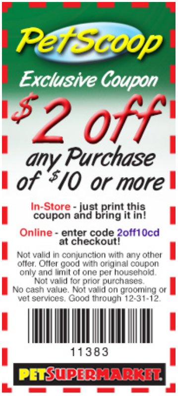 photograph about Pet Supermarket Coupons Printable referred to as Coupon Codes and Price savings Discount codes Canine grocery store