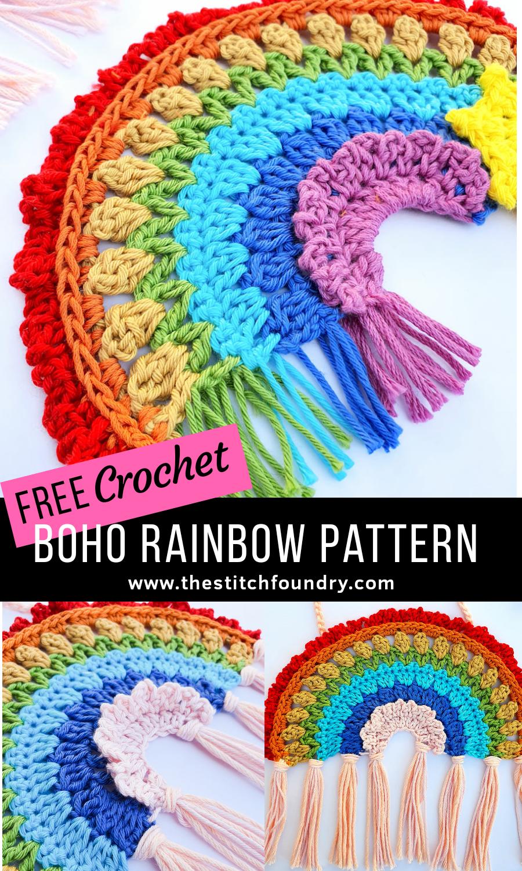 Photo of Boho Crochet Rainbow Free Pattern