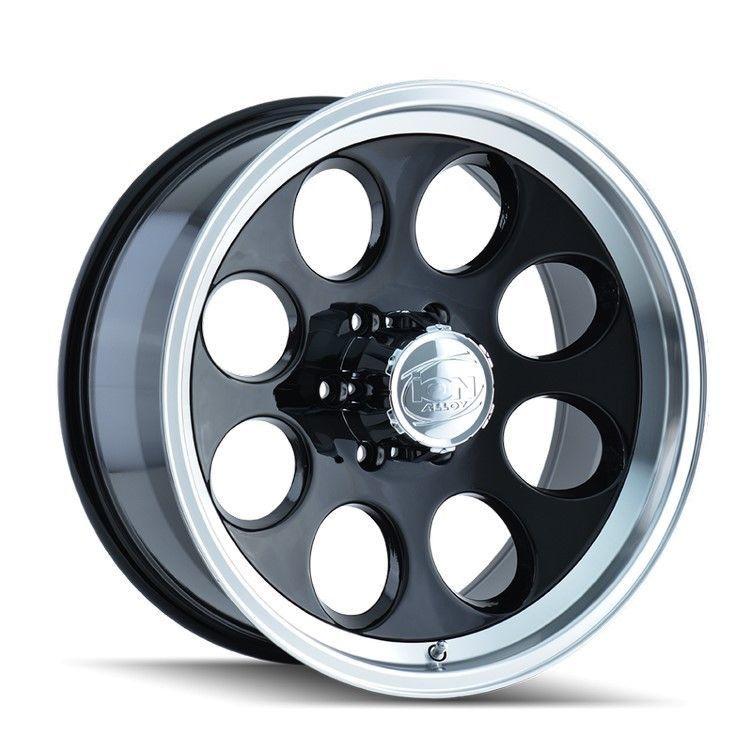 Set 4 16 Ion 171 Black Machined Lip Wheels 16x10 6x5 5 38mm Lifted Chevy 6 Lug Ebay Wheel Rims Rims Black Wheels