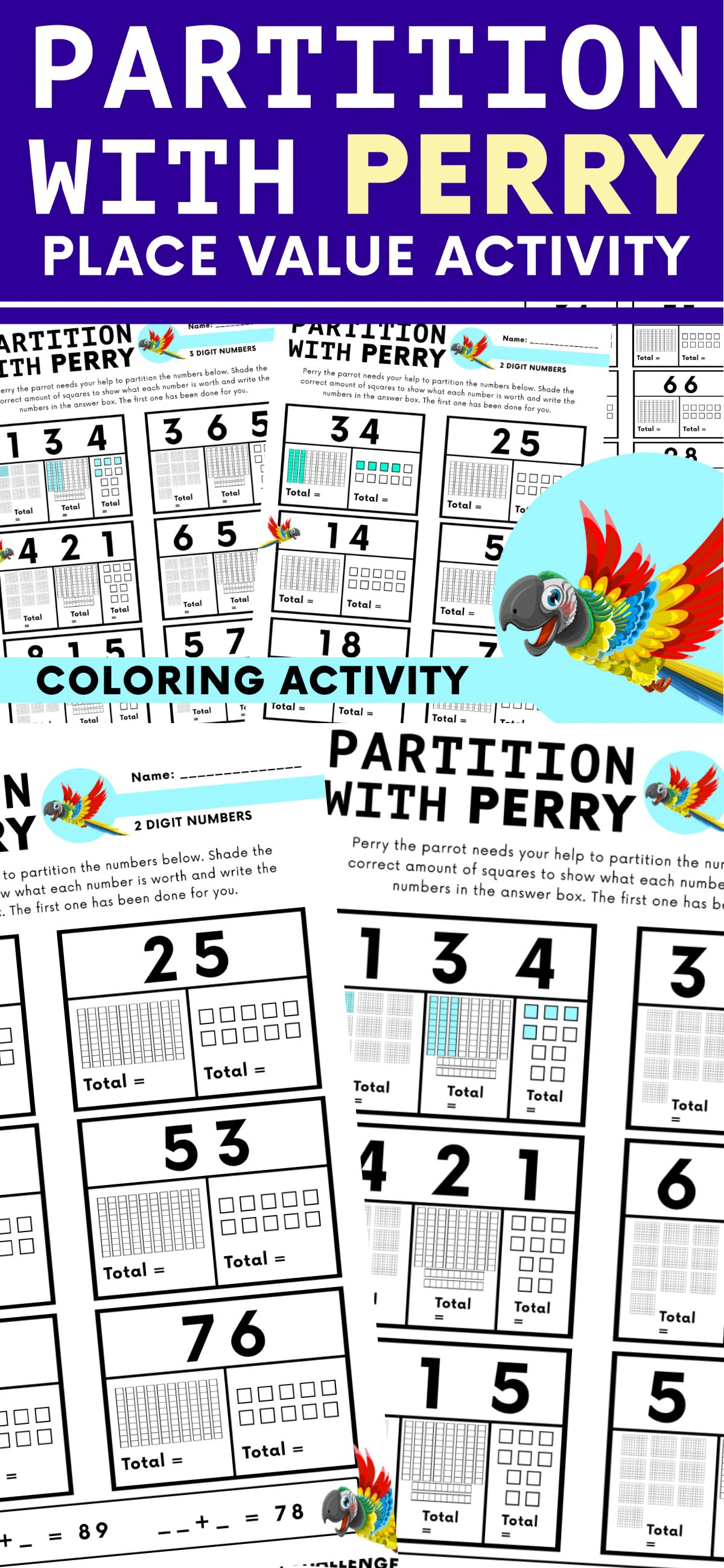 Place Value Coloring Activity