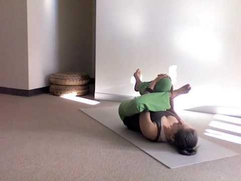 yoga stretch  sevanasana thread the needle gentle hip