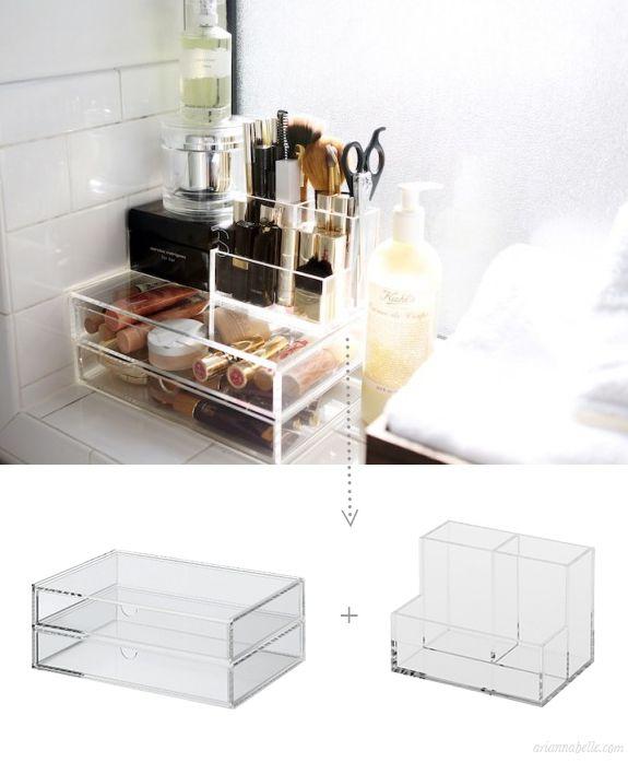 muji acrylic storage muji beauty storage pinterest. Black Bedroom Furniture Sets. Home Design Ideas