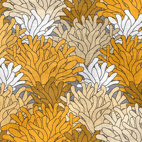 Golden Sea Anemone fabric by pond_ripple on Spoonflower - custom fabric
