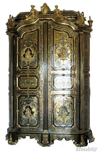 armoire boulle louis xiv meubles furniture en marqueterie boulle pinterest armoires et. Black Bedroom Furniture Sets. Home Design Ideas