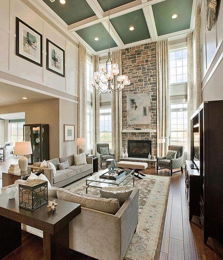 Progress Lighting On Instagram Your Home S Vertical Space Is Just As Important As Your Floor High Ceiling Living Room Trendy Living Rooms Family Room Design