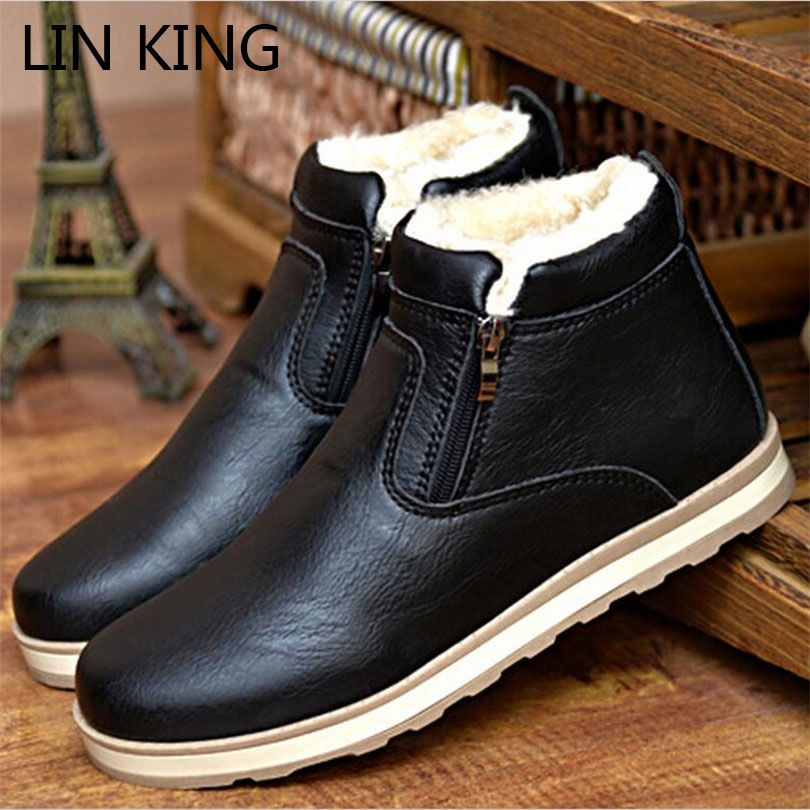 Men's Casual Leather Chelsea Boots With Round Shoes