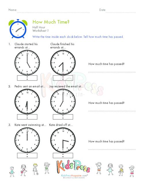 Telling Time Half Hour Worksheet 6 – Homeschooling Math Worksheets