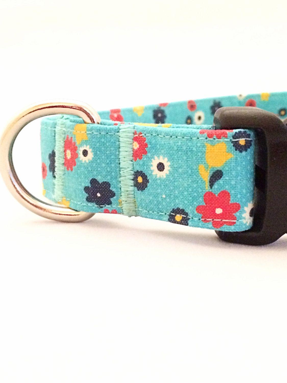 Flower Dog Collar Floral Collar Spring Collar Vintage Girly Collar