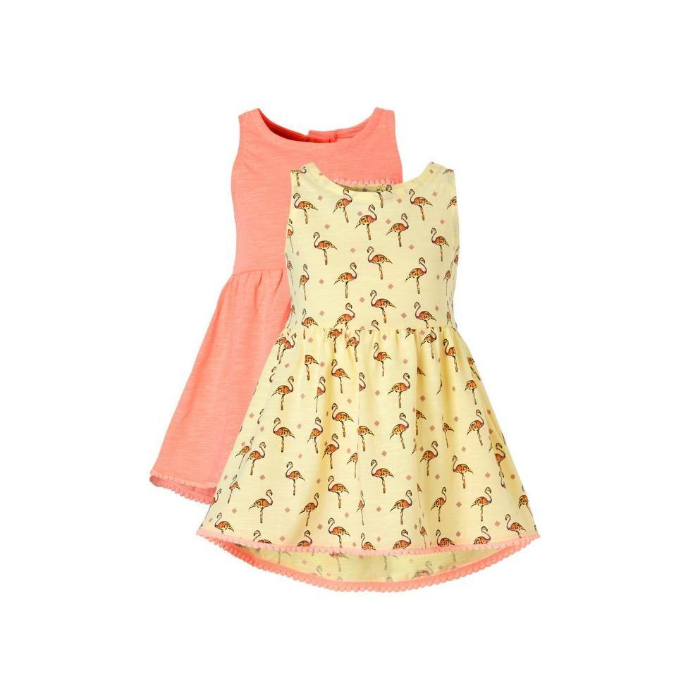 River Island set van 2 jurken, oranje/geel/roze