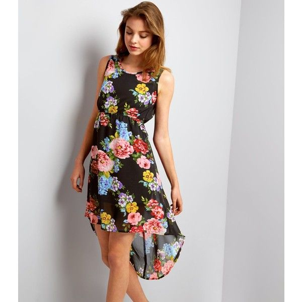 Mela Floral Print High Low Dress New Look Largest Supplier Cheap Online Buy Cheap Outlet IpHRCsh3O
