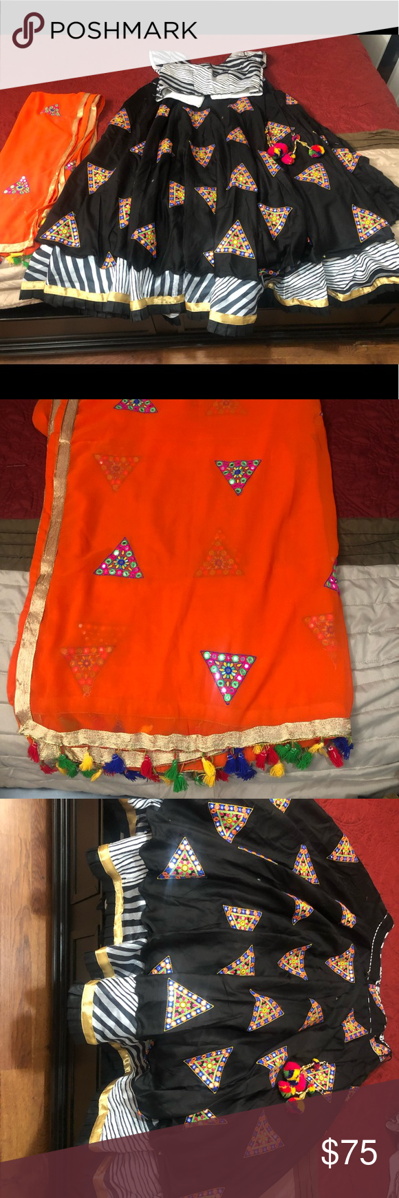 Chaniya choli Garba chaniya choli with cotton material with medium size Dresses #chaniyacholi