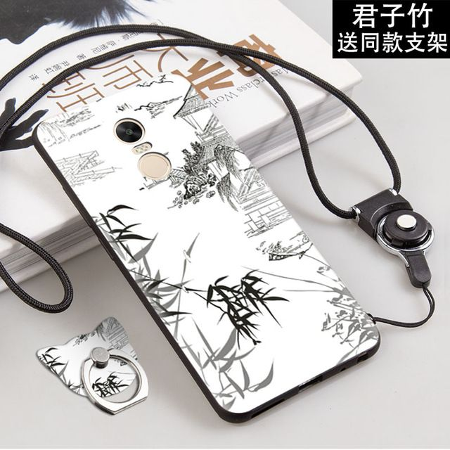 save off 0c6ee 738f8 Redmi Note 4 Global Version Simple Style Black Edge Cartoon Painted ...