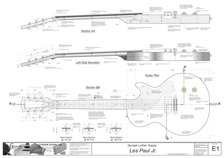 Building A Les Paul Guitar Dengan Gambar