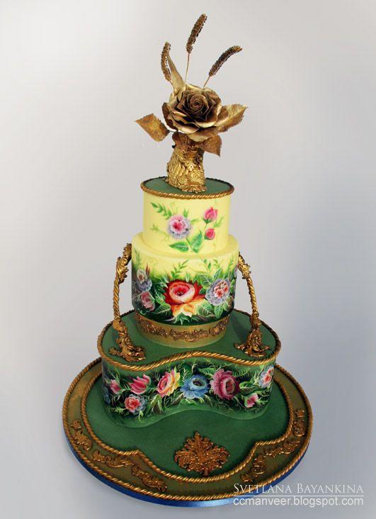 unusual cake, but still pretty