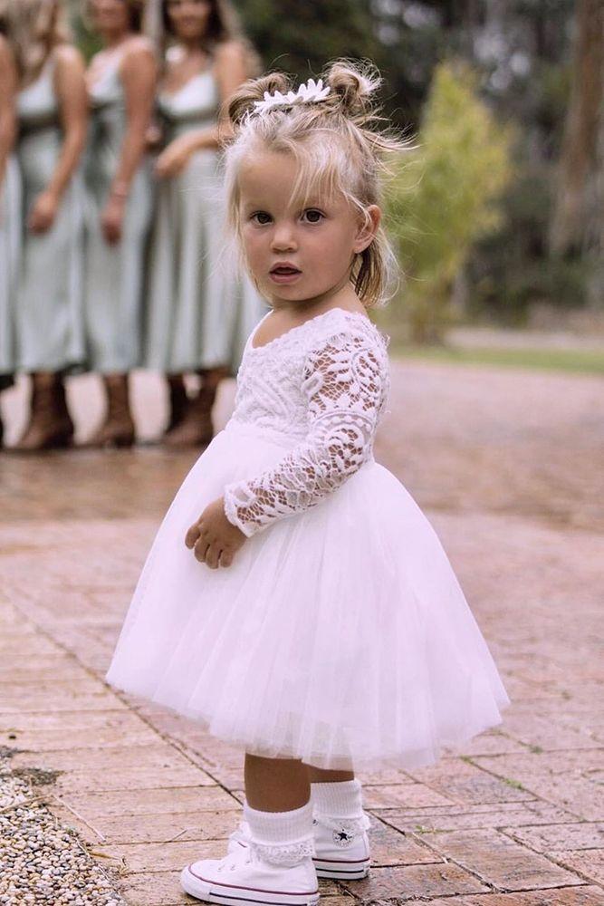 Must Have 2019: 24 Lace Flower Girl Dresses   Wedding Dresses Guide -   19 dress Flower Girl blue ideas