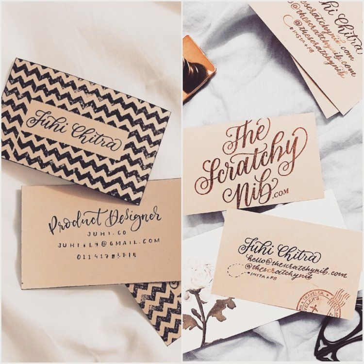How I handmade my business cards: 3 DIY designs | My Lettering ...