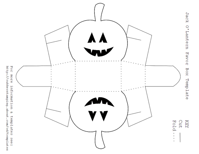 free printable jack olantern favor box template - Free Printable Cartoon Templates