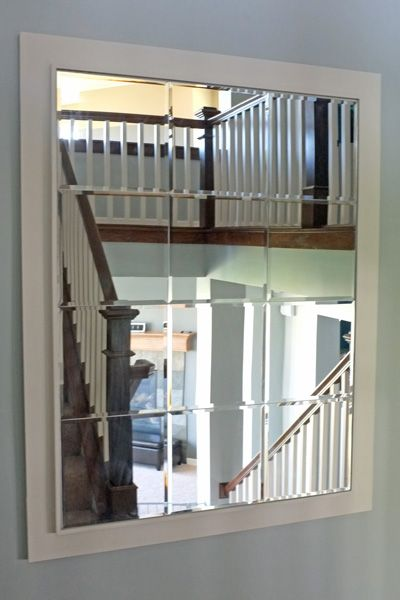 Large Custom Mirror Made Of Beveled Mirror Tiles Home Home
