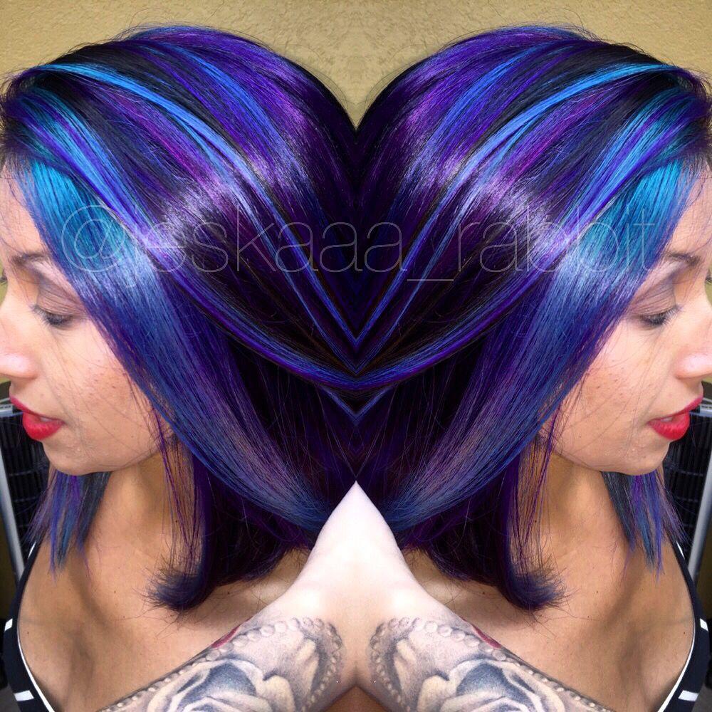 Purple Joico Hair Colorful Color Hair Color Bright Hair
