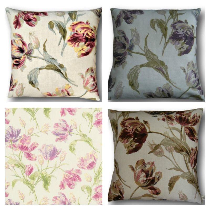 "Laura Ashley Designer Cushion Cover /""GOSFORD/"" CRANBERRY Fabric Various Sizes"