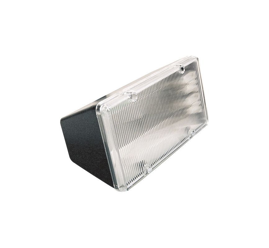Elco ES2603 13W Two Light Compact Fluorescent Floodlight Black Commercial Lighting Site Lighting Flood Lights