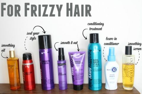 The Best Hair Products For Different Hair Types Cool Hairstyles Frizzy Wavy Hair Different Hair Types