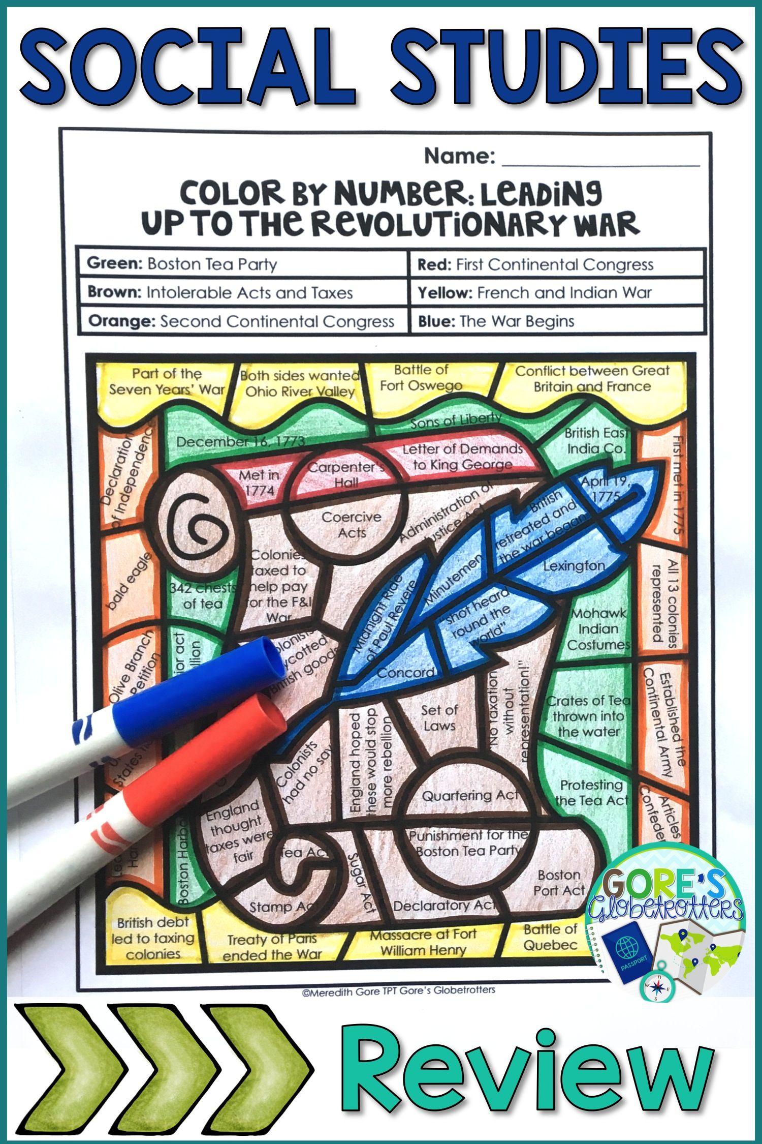 medium resolution of Events Leading up to the Revolutionary War Worksheet   Social studies