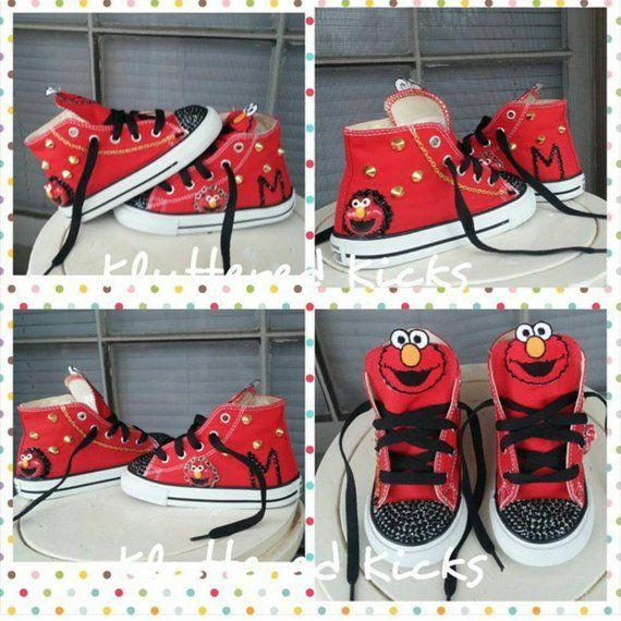 e1b45c86f3b6fb Elmo Custom Converse Bling Purses