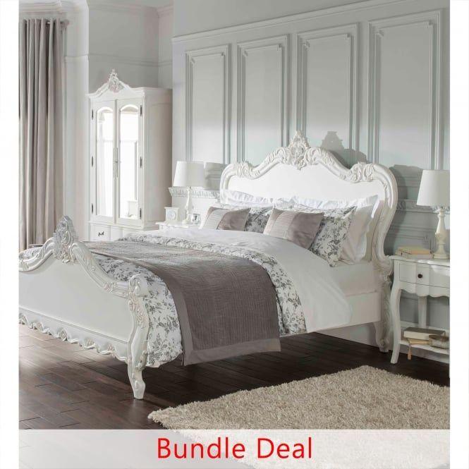 Estelle Bedroom Furniture Set, White French Bedroom Furniture Sets Uk