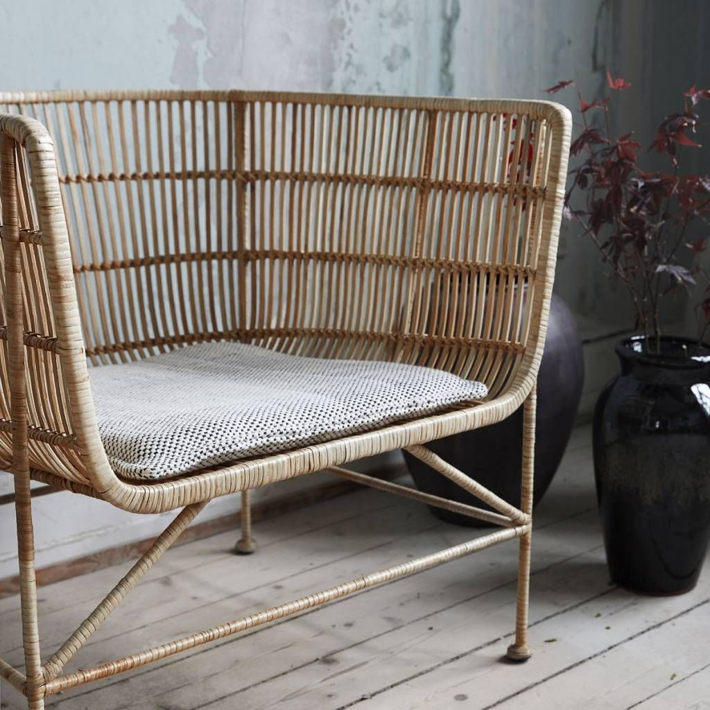 Beau House Doctor Coon Natural Rattan Lounge Chair
