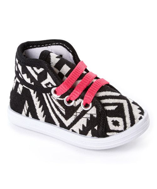 Look at this Milly & Max Pink & Black Tribal Sneaker on #zulily today!