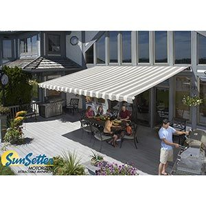 Sunsetter Motorized Retractable Awnings Backyard