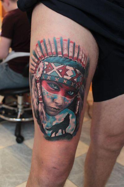Tatuaże Męskie Na Udzie Tattoos Tattoos For Guys