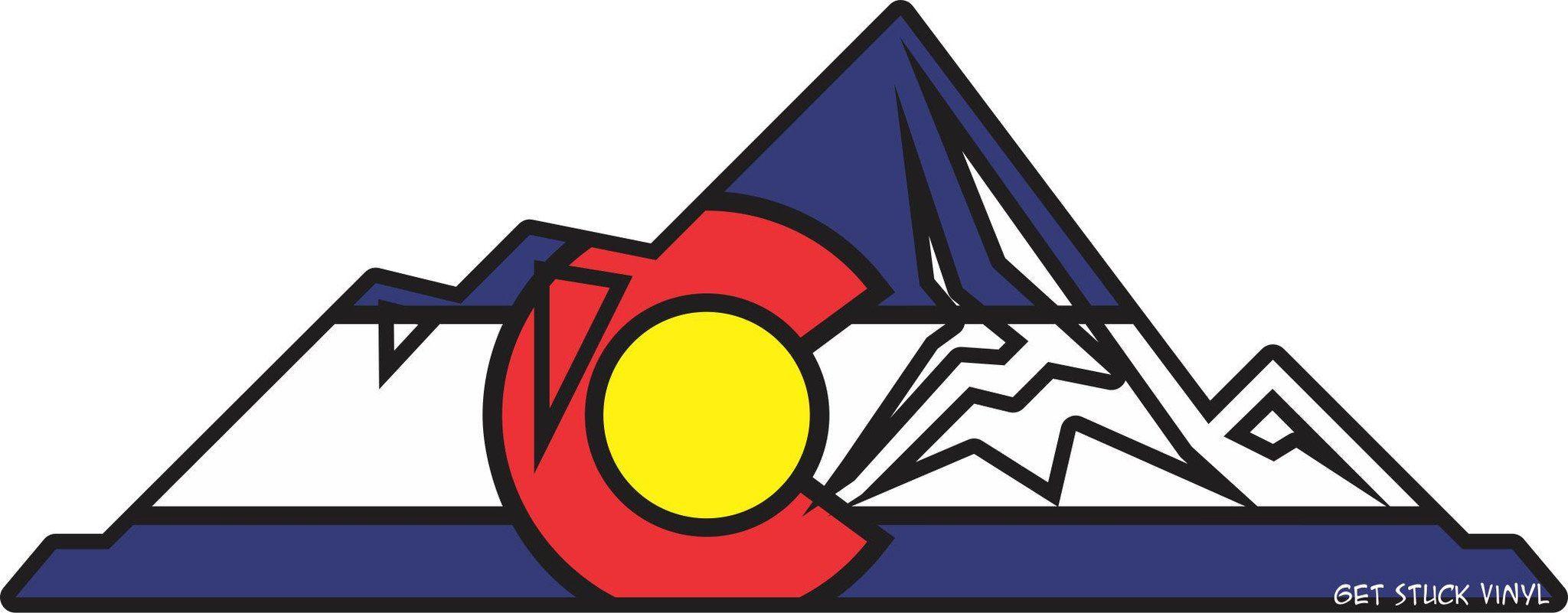 Colorado mountains 1 sticker