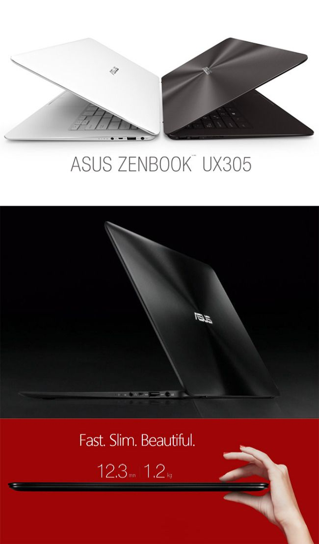 """The Taiwanese juggernaut #Asus has come to India with its world's thinnest #laptop, named #ZenBook UX305. With just 12.3mm thickness and 1.2kg weight, this laptop has been listed its name in the """"world's slimmest 13.3-inch QHD+ ultraportable laptop"""" as company claims."""