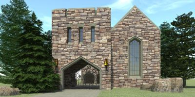 Gated Castle Tower Home 5 Bedrooms Tyree House Plans