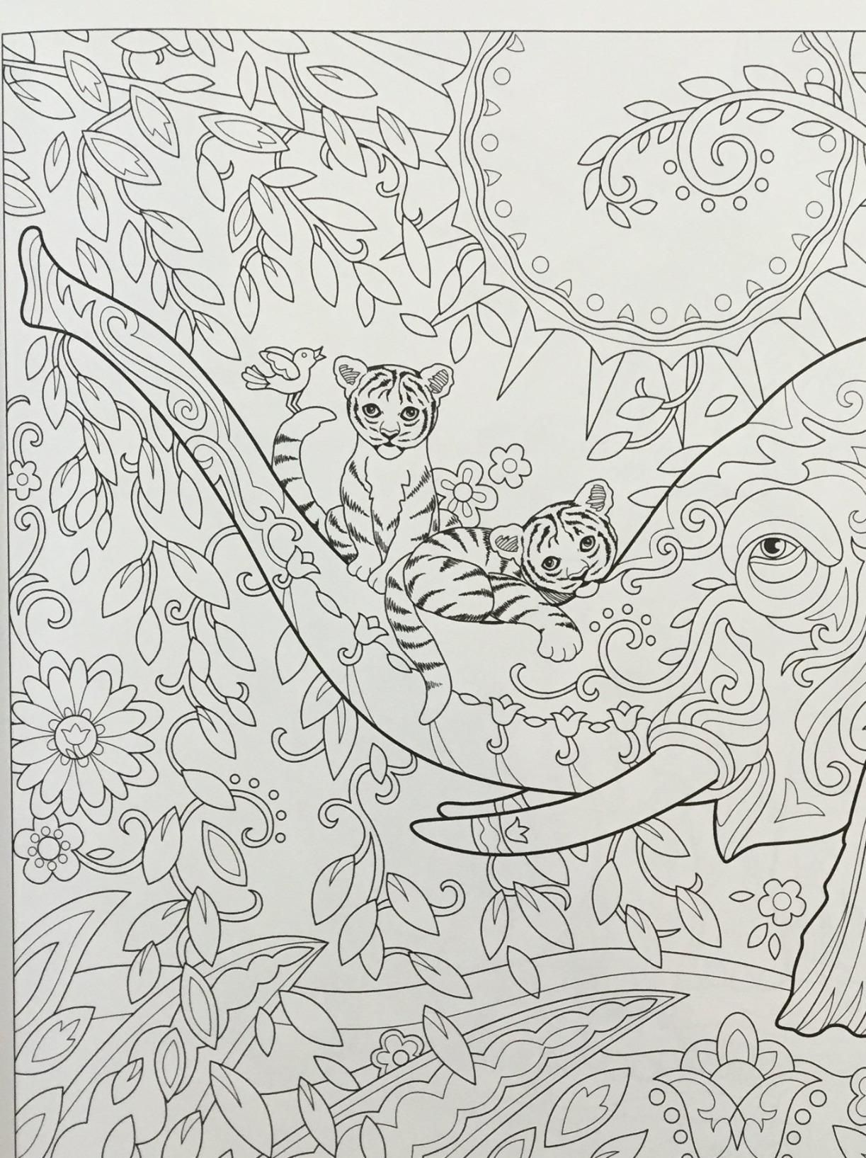 Amazon The Art of Marjorie Sarnat Elegant Elephants Adult Coloring book Coloriage AdulteColoriagesColoriage AdultesLivres