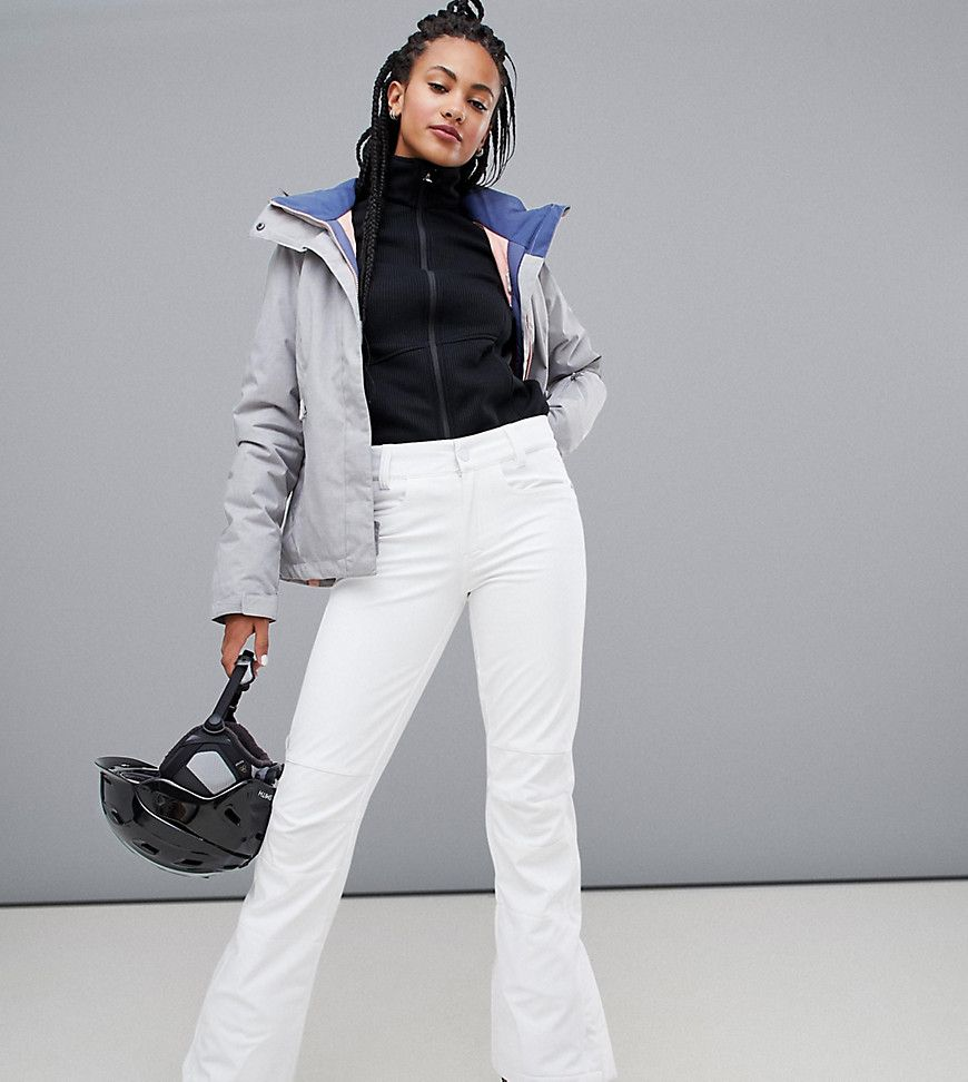 Roxy Creek ski pants in white 151.50 USD | Snowboarding outfit