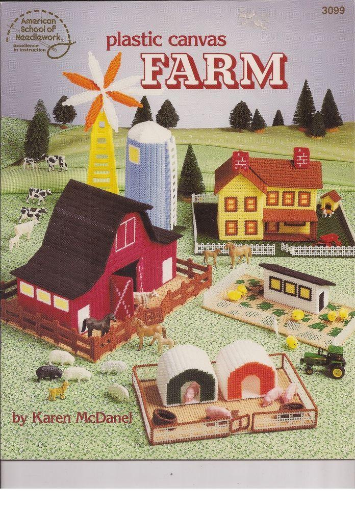 American School of Needlework Plastic Canvas Farm Patterns Karen McDanel  #AmericanSchoolofNeedlework