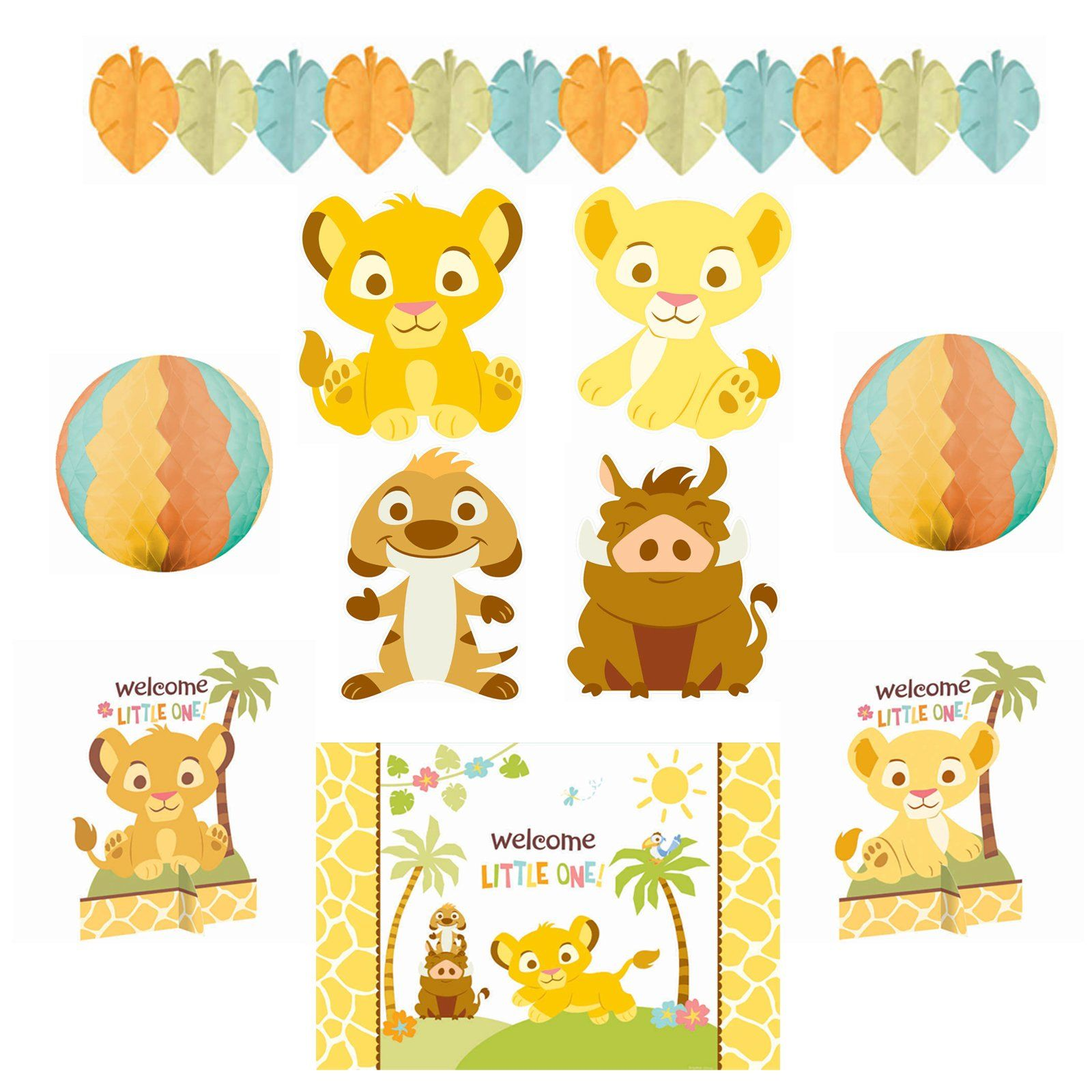 Lion king baby shower includes 4 cutouts 10 1 for Baby shower decoration cutouts