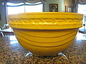 Antique McCoy yellow ware bowl; very large. For sale at More Than McCoy