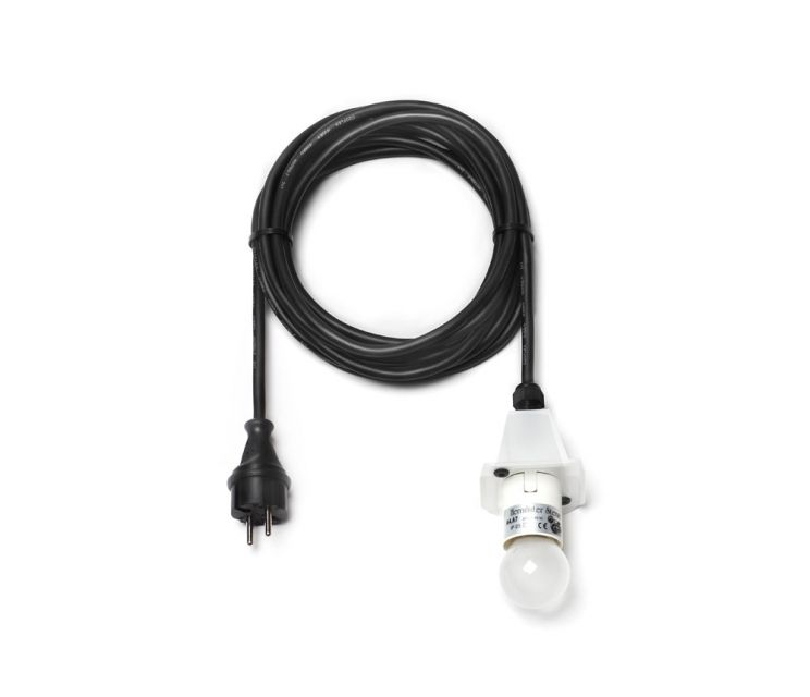schwarzes Kabel, speziell für Außenbereich geeignet 5 m lang für 230 ...