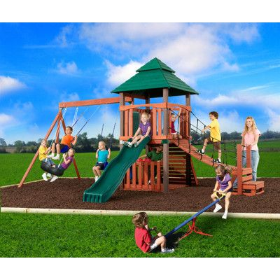 Playground Swing Set Seesaw Spinner