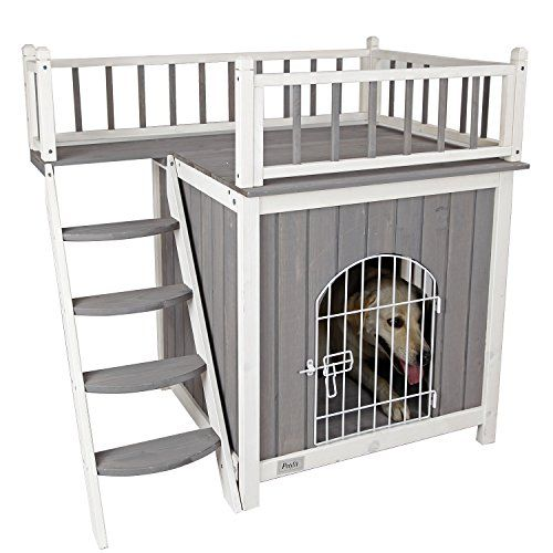 Petsfit 36 Lx25 Wx34 H Cat House For Indoor Use Dog House Wooden Indoor Dog House Cat Condo Dog House Diy Diy Dog Stuff Large Dog House