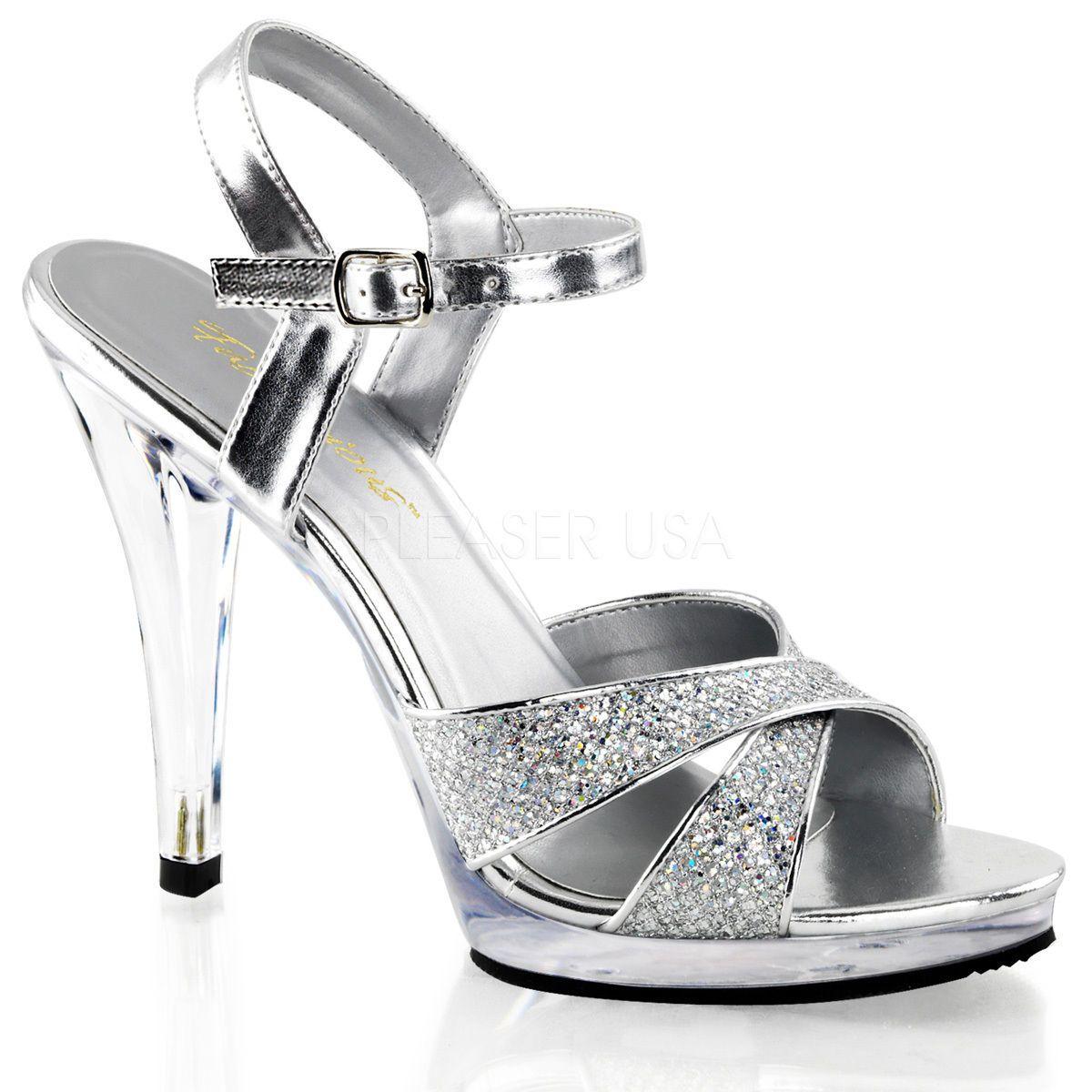 e1a915e9228c Silver Salsa Swing Dance Heels Drag Queen Crossdresser Shoes size 11 12 13  14