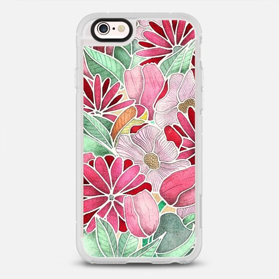Blossoming hand drawn floral pattern - protective iPhone 6 phone case in Clear and Clear by Perrin Le Feuvre | @casetify