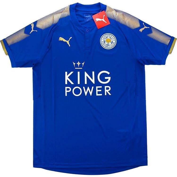 Leicester Home Blue SHIRT WHITE SOCCER FOOTBALL JERSEY BNWT ORIGINAL ... 809fa052b