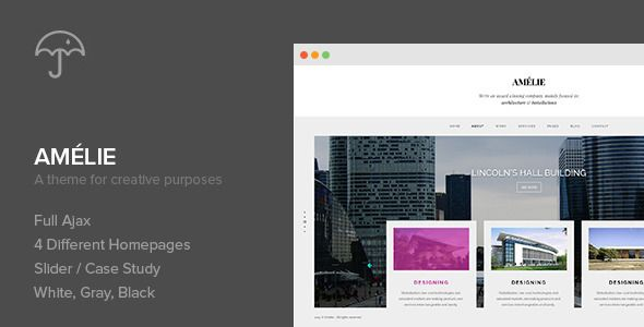 Amelie - WP Theme for Creatives Photographers Wordpress Template - visitor sign in sheet template